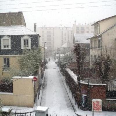 Le quartier sous la neige